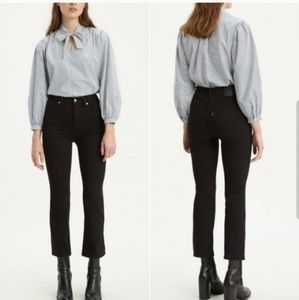Levi's Mile High Rise Crop Flare Jeans